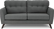 Habitat Hayle 3 Seater Fabric Sofa - Grey