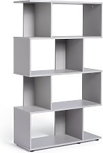 Habitat Hayward 5 Shelf Bookcase - Grey Gloss