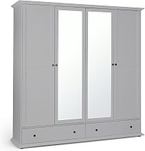 Habitat Heathland 4 Door 2 Drawer Mirror Wardrobe