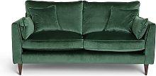 Habitat Hector 2 Seater Velvet Sofa - Green