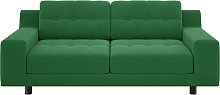 Habitat Hendricks 2 Seater Velvet Sofa - Green