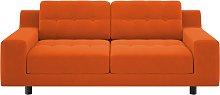 Habitat Hendricks 2 Seater Velvet Sofa - Orange