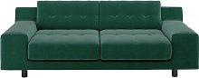 Habitat Hendricks 3 Seater Velvet Sofa - Emerald