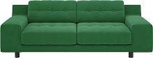 Habitat Hendricks 3 Seater Velvet Sofa - Green