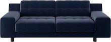 Habitat Hendricks 3 Seater Velvet Sofa - Navy
