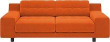 Habitat Hendricks 3 Seater Velvet Sofa - Orange
