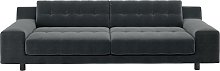 Habitat Hendricks 4 Seater Velvet Sofa - Dark Grey