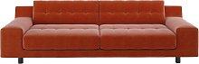 Habitat Hendricks 4 Seater Velvet Sofa - Orange