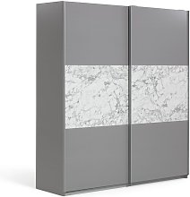 Habitat Holsted Large Sliding Wardrobe - Grey &