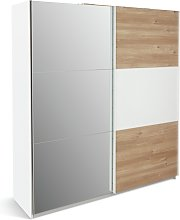 Habitat Holsted Large Sliding Wardrobe -White/ Oak