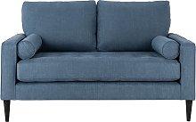 Habitat Hudson 2 Seater Fabric Sofa - Linnet
