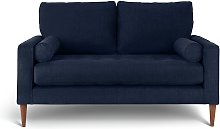 Habitat Hudson 2 Seater Velvet Sofa - Blue