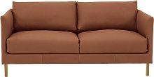 Habitat Hyde 2 Seater Leather Sofa - Tan