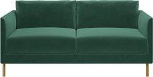 Habitat Hyde 2 Seater Velvet Sofa - Green