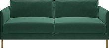 Habitat Hyde 3 Seater Fabric Sofa - Green