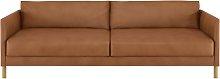Habitat Hyde 3 Seater Leather Sofa Bed - Tan