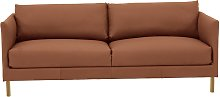 Habitat Hyde 3 Seater Leather Sofa - Tan