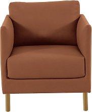 Habitat Hyde Tan Premium Leather Armchair