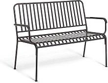 Habitat Indu Metal 3 Seater Bench - Black