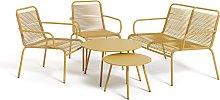 Habitat Ipanema 4 Seater Sofa Set - Yellow