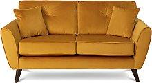 Habitat Isla 2 Seater Velvet Sofa - Gold