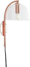 Habitat Ivar Wall Light - Copper & Glass
