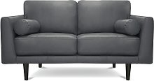 Habitat Jackson 2 Seater Leather Sofa - Grey