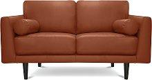 Habitat Jackson 2 Seater Leather Sofa - Tan