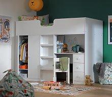 Habitat Jackson High Sleeper Bed and Mattress -