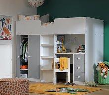 Habitat Jackson High Sleeper Bed & Mattress -White