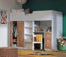 Habitat Jackson High Sleeper Bed & Mattress -