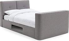 Habitat Jakob Kingsize TV Ottoman Bed Frame - Grey