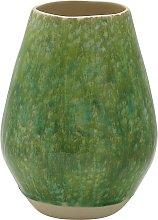 Habitat Jeju Green Reactive Glaze Ceramic Vase