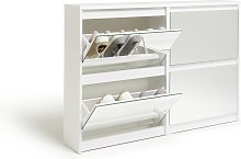 Habitat Jenson 2+2 Drawer Mirror Shoe Cabinet -
