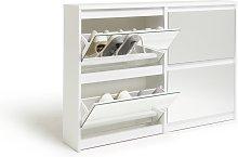 Habitat Jenson 2+2 Drawer Mirror Shoe Cabinet -