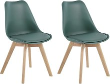 Habitat Jerry Pair of Dining Chair - Green
