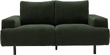 Habitat Julien 2 Seater Fabic Sofa - Dark Green