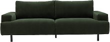 Habitat Julien 3 Seater Fabric Sofa - Dark Green