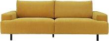 Habitat Julien 3 Seater Fabric Sofa - Yellow