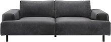 Habitat Julien 3 Seater Velvet Sofa - Grey