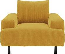 Habitat Julien Fabric Armchair - Yellow