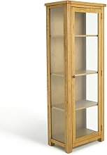 Habitat Kent 1 Door Display Cabinet - Oak