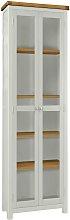 Habitat Kent 2 Door Glass Display Cabinet - Oak