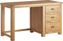 Habitat Kent 3 Drawer Office Desk - Oak & Oak