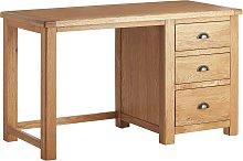 Habitat Kent 3 Drawer Office Desk - Oak & Oak