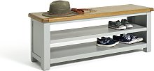 Habitat Kent Shoe Bench - Grey