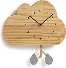 Habitat Kids Wooden Cloud Wall Clock - Light Wood