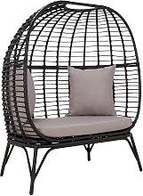 Habitat Kora 2 Seater Egg Bench - Black