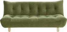 Habitat Kota 3 Seater Velvet Clic Clac Sofa - Green