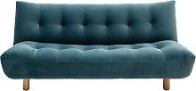 Habitat Kota 3 Seater Velvet Sofa Bed - Teal